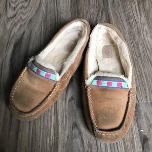 88924cfb577 UGG Chestnut Ansley Embroidered Slipper moccasins